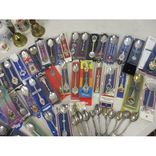 25 - A large quantity of sixty eight collectors spoons and a collection of miscellaneous decorative balls...