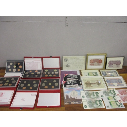 27 - Six United Kingdom Proof Coin collections circa 1980, together with other coins and mounted British ...