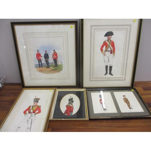 29 - Five watercolours depicting British soldiers in uniforms, through the ages, 1790-1969...