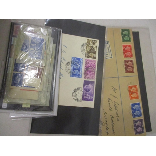 9 - Late 19th century and later stamps on stock cards, including one penny blacks, 2d blues, George V se...