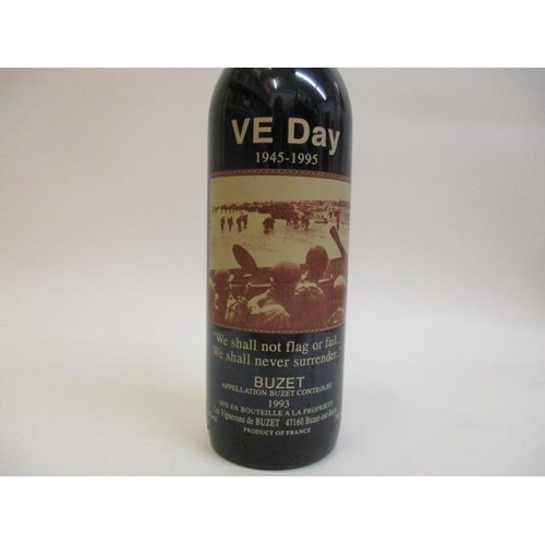 47 - A bottle of 1993 Buzet celebrating VE Day 1945-1995 Location 9.1...