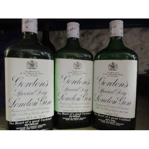 58 - Three bottles of Gordons dry gin, 75cl Location CR...