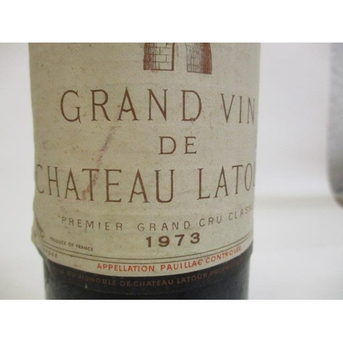 14 - One bottle of Grand Vin Chateau Latour 1973, Premier Grand Cru Classe Location P...