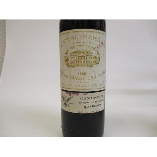 16 - One bottle of Chateau Margaux Premier Grand Cru Classe 1959, known as the Vintage of the Century, qu...