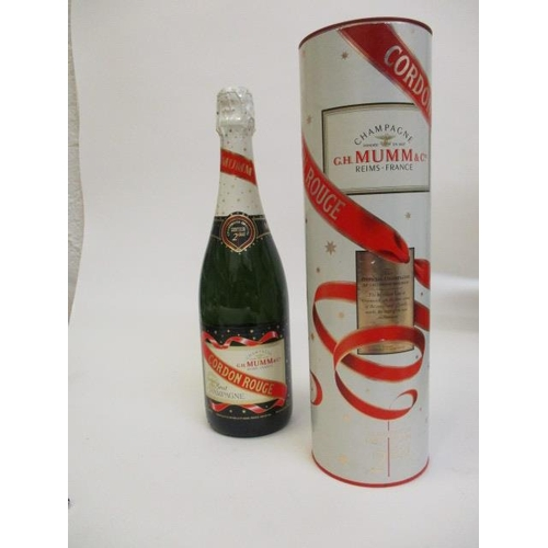 18 - One bottle of G H Mumm & Co Champagne 750ml, Greenwich Meridian 2000 Celebration, cased Location RWB...