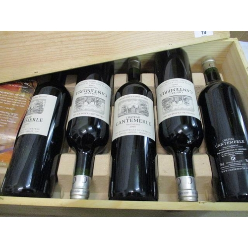 19 - Twelve cased bottles of Chateau Cantemerle Haut-Medoc Cru Classe 2008 Location 9.6...