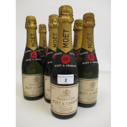 2 - Eight half bottles of Moet & Chandon Champagne Location 3.3...
