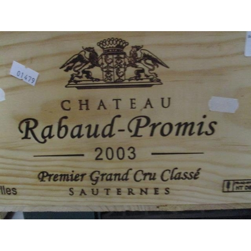 23 - Twelve cased bottles of Chateau Rabaud-Promis 2003 Sauternes Premier Grand Cru Classe Location RAM...