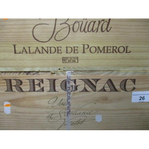 26 - Twelve cased bottles of Reignac 2008 Grand Vin De Bordeaux Location 11.5...
