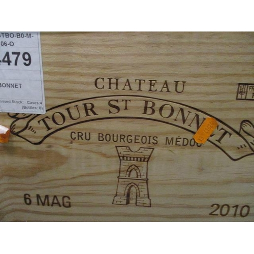 28 - Six cased magnums of Chateau Tour St Bonnet Cru Bourgeois Medoc 2010 Location 5.5...