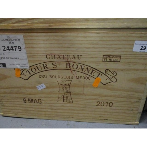 29 - Six cased magnums of Chateau Tour St Bonnet Cru Bourgeois Medoc 2010 Location 6.4...