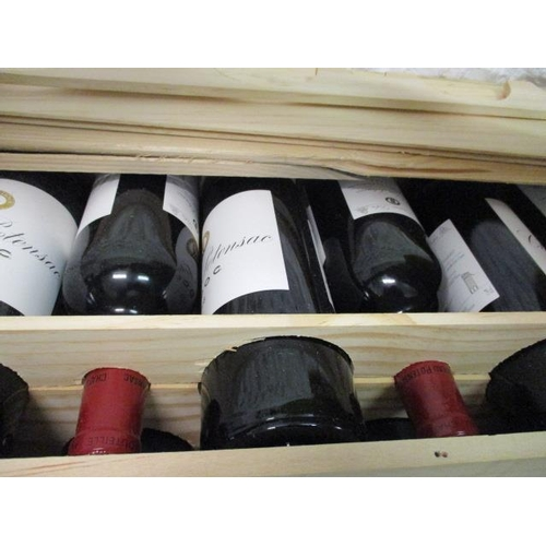 31 - Twelve cased bottles of Chateau Ponesac Delux Medoc 2008 Location 7.4...