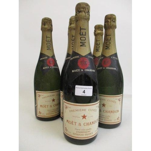 4 - Six bottles of Moet & Chandon Champagne Location 11.1...