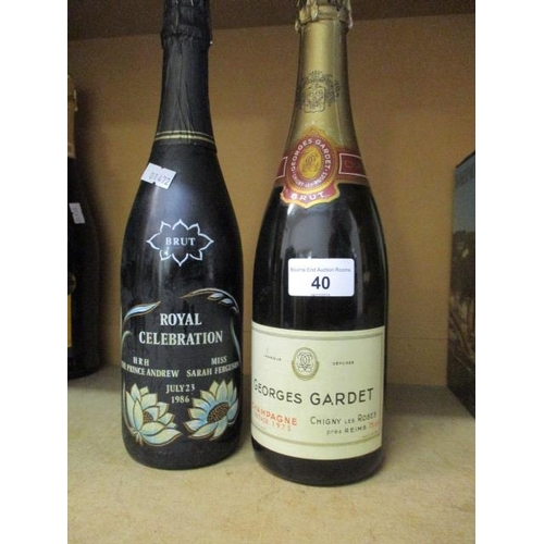 40 - Georges Gardet Vintage Champagne 1975 and a Royal Celebrations Brut Prince Andrew and Sarah Ferguson...