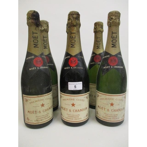 5 - Six bottles of Moet & Chandon Champagne Location 5.3...
