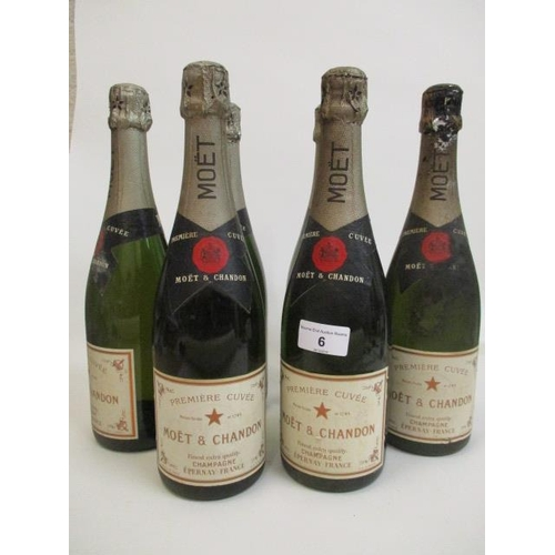 6 - Six bottles of Moet & Chandon Champagne Location 5.3...