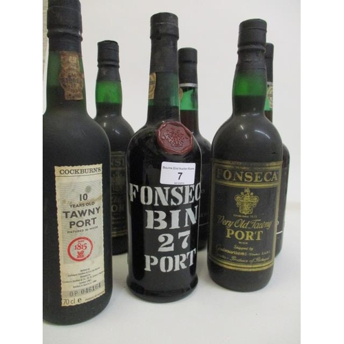 7 - Six mixed bottles of Port to include Fonseca Hoc Signo Vinces 1975 Location 6.6...