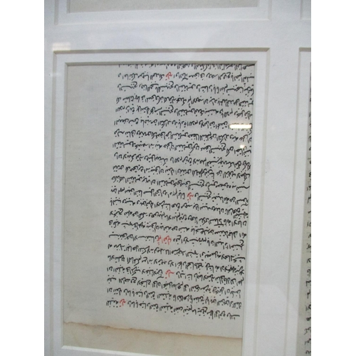 7 - Six 19th century Indian leaves from a manuscript, each 5 1/2