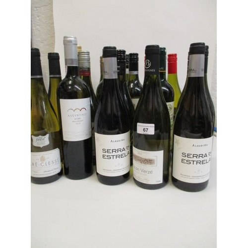 67 - A selection of twenty bottles of white wine to include Semillon and Sauvignon Blanc Location 1.2...