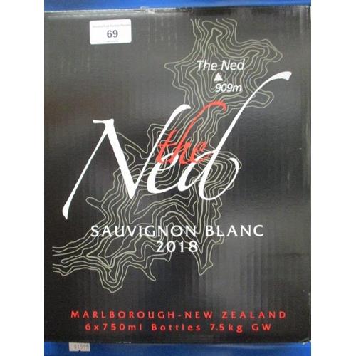 69 - A case of six bottles of Marlborough The Ned Sauvignon Blanc 2018 Location RAF...