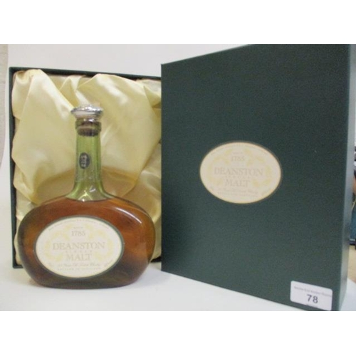 78 - A boxed Deanston single malt, 25 year old Scottish Whisky Location RAM...