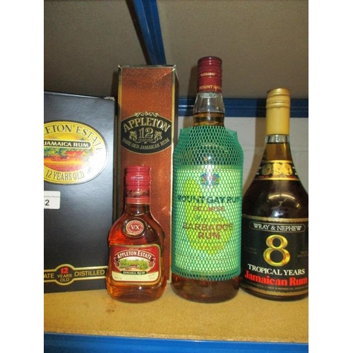 82 - Five mixed bottles of Jamaican Rum to include Appleton & Wray & Nephew Location 2.3...