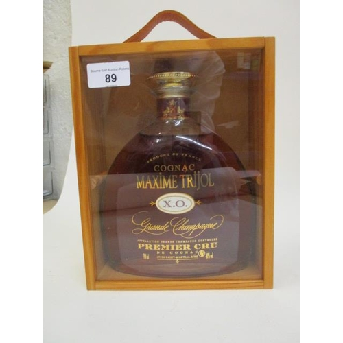 89 - A boxed bottle of Cognac Maxime Trijol XO Grand Champagne, 700ml  Location RAM...