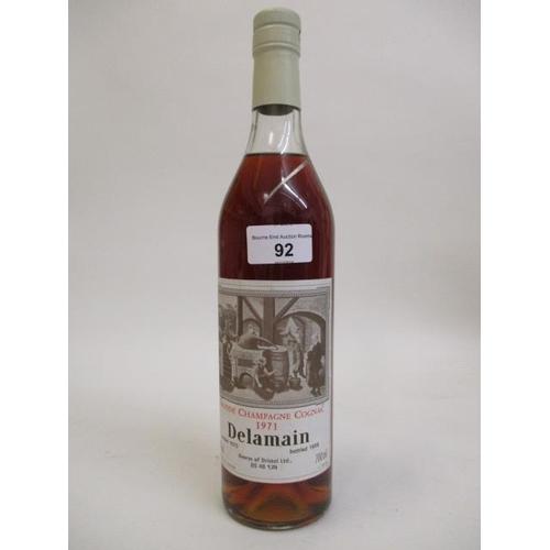 92 - Delamains Grand Champagne Cognac 1971 Location 6.1...