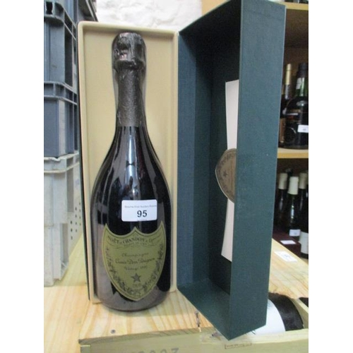 95 - A Moet Chandon Dom Perignon Champagne Vintage 1995, 750ml, boxed Location RAM...