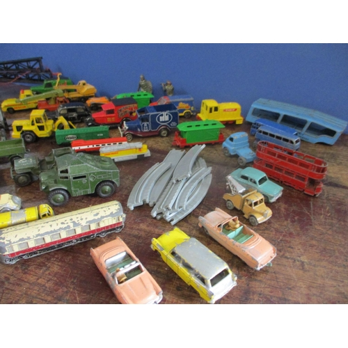 22 - A collection of 1960s and later die cast vehicles to include Dinky Matchbox and Tonka...