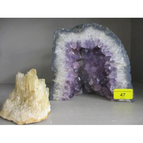 47 - An Amethyst geode, 7