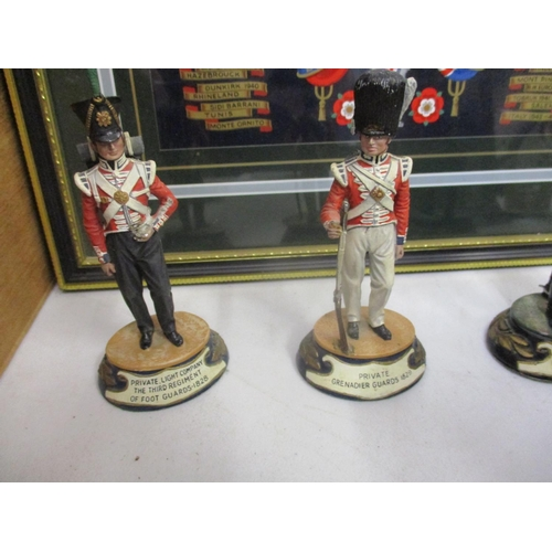 9 - Collectables to include painted metal soldiers, two tankards, a military style penknife, military re...