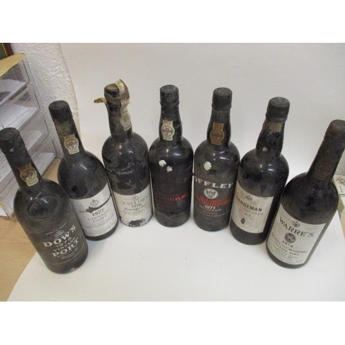 102 - Seven bottles of Port to include Taylors Vintage Port, 1970, two bottles of Offley Boa Vista Vintage...