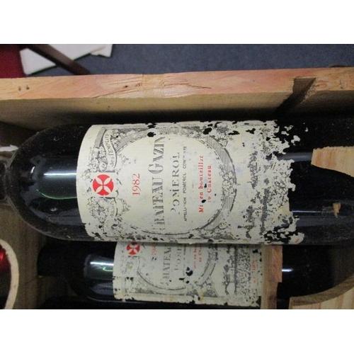 104 - Eight bottles of Chateau Gazin Pomerol 1982 Location 10.5