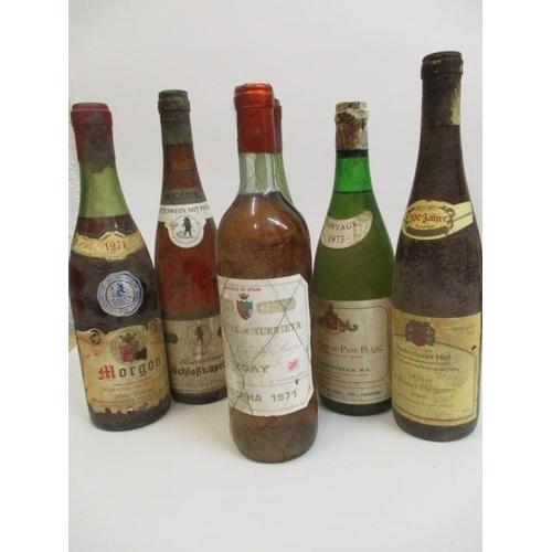 114 - Six bottles  to include Schlokkapelle, Munsterer, Auslese 1971, Murrietta, Ygay, white Rioja 1971, C...