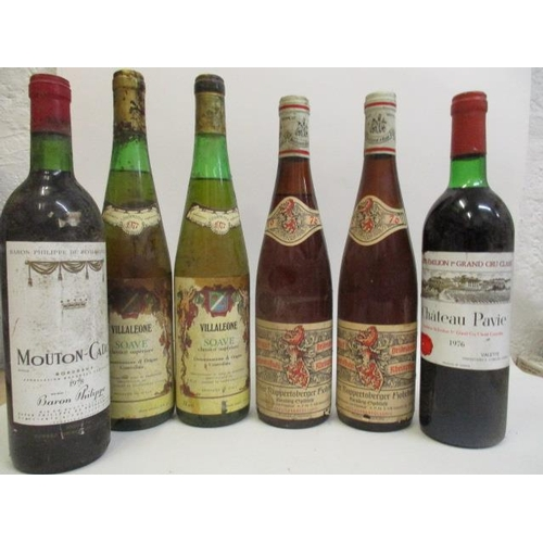 115 - Six bottles to include two bottles of Weingut Buhl, Rupertsburger Reisling Spatslese 1976, Chateau P...