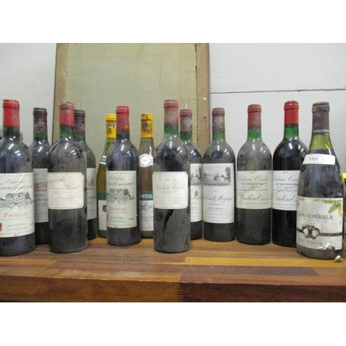 123 - Thirteen bottles to include two bottles of Geisweller Mersault 1989, two bottles of Chateau Meynieu,...