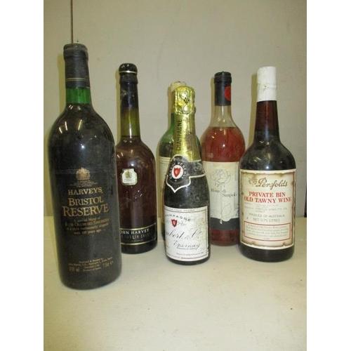 125 - Six bottles to include John Harvey, light smooth sherry, Montravel Sec, Rosa di Sampolo, Lambert Ext...