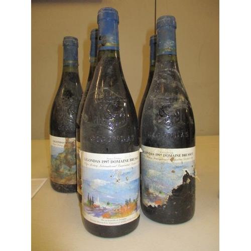 127 - Five bottles of Domaine Brusset Giogondas 1997 Location 4.4
