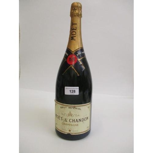 128 - A magnum 150cl bottle of Moet & Chandon Champagne Location 9.2
