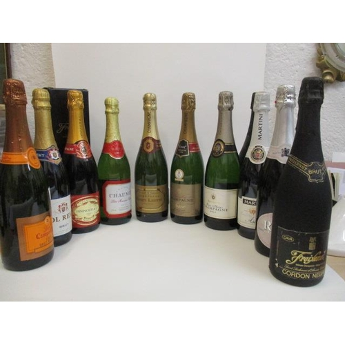 130 - Twelve bottles of mixed Cava and Champagne to include Hubert Laurent Location LAB