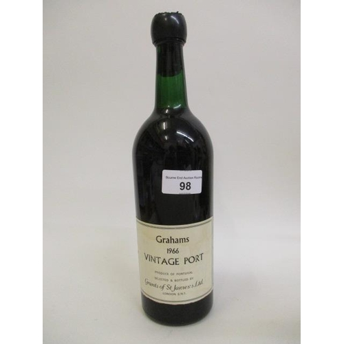 98 - A Grahams 1966 vintage bottle of port, re-labelled  and possibly re-sealed Location RWM