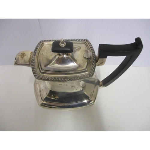 14 - A George V silver hot water jug by Walker & Hall, Sheffield 1930, with gadrooned edging, 9