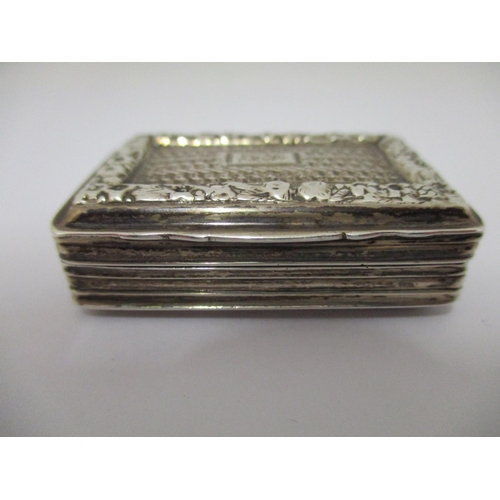 35 - A Victorian silver vinaigrette, by Clark & Smith  Birmingham 1839, of rectangular form with an appli...