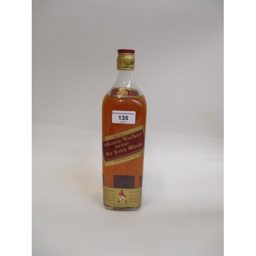 135 - One bottle of Johnnie Walker Red Label Old Scotch Whisky, 1l Location 4.1