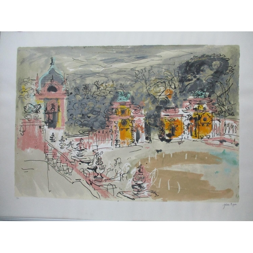 435 - John Piper - Harlaxton Hall, limited edition print 70/90, signed in pencil along with blind backstam...