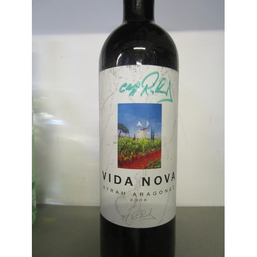 457 - Mixed alcohol to include two bottles of Vida Nova, signed by Cliff Richard Location 10.2...