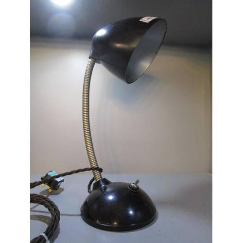 462 - A 1930s Bakelite desk lamp with an adjustable arm, re-wired and pat tested Location 10.1...