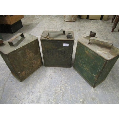 491 - Three vintage oil/fuel cans, one with aviation interest Location G...