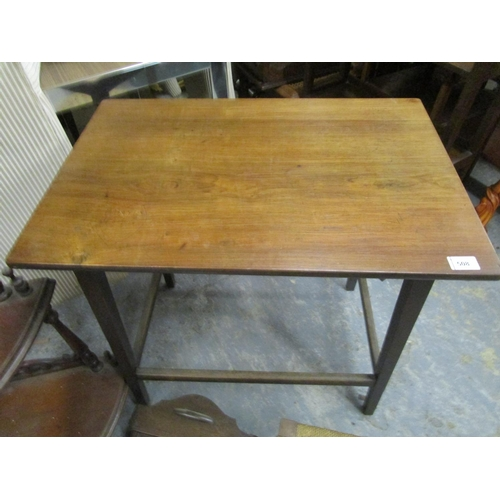 508 - Small furniture to include a reproduction mahogany what not, a walnut occasional table, a stool and ...